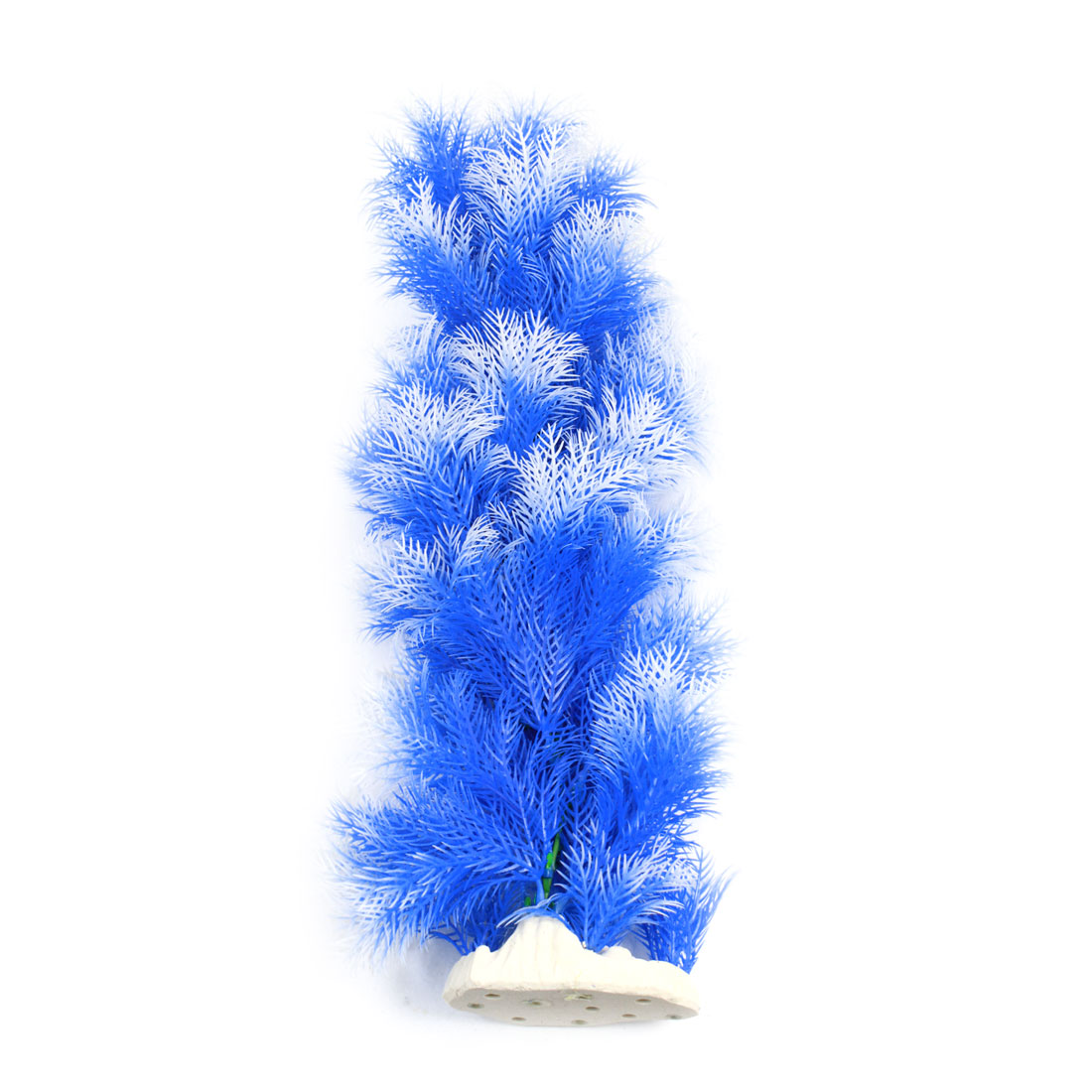 "Aquarium Fish Tank Landscaping Artificial Emulational Underwater Water Plant Tree Decor Blue White 19"" Height"