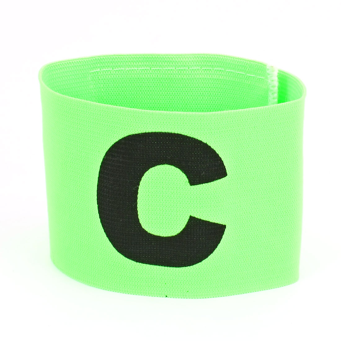 Character C Printed Football Game Hook Loop Closure Elastic Armband Green