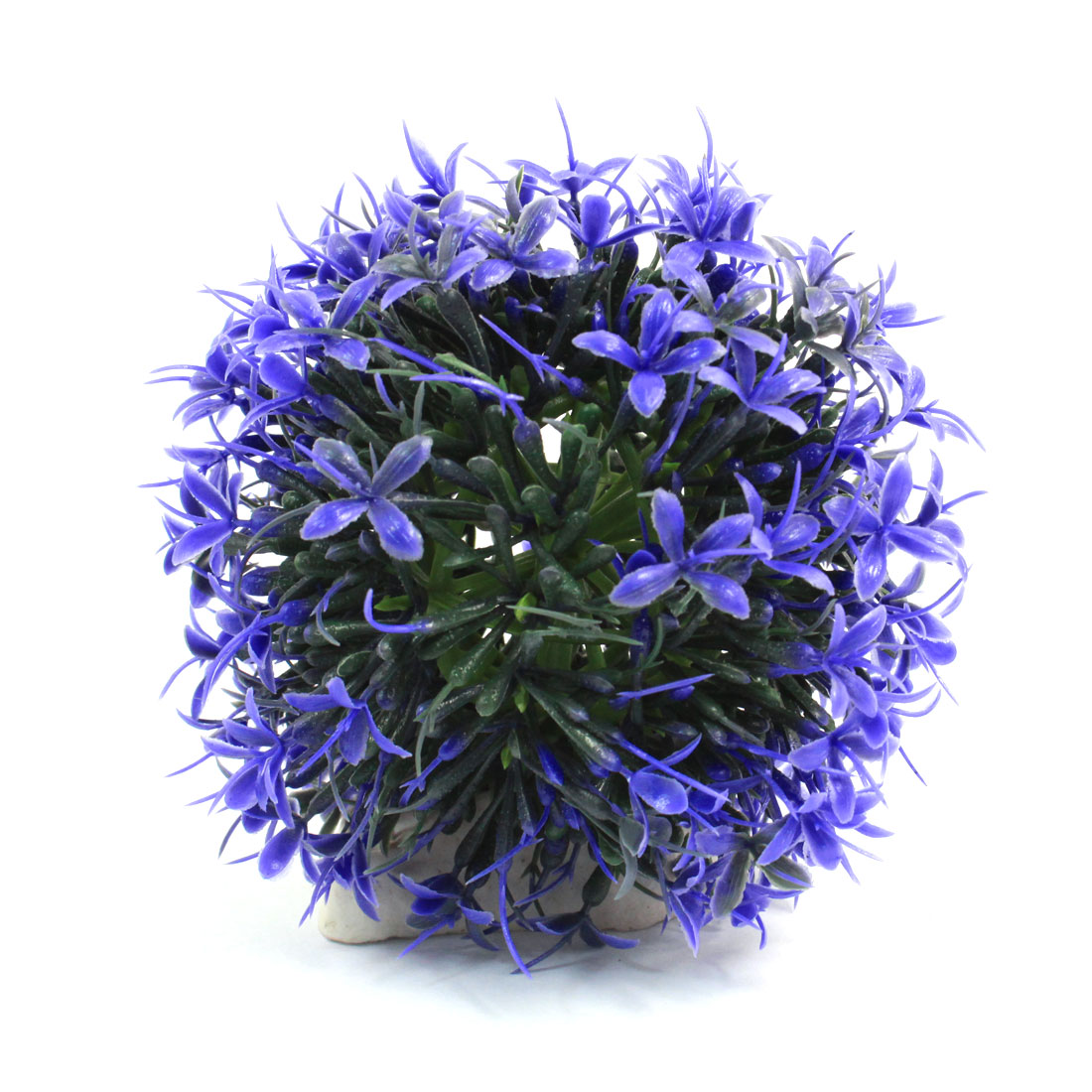 "Aquarium Fish Tank Landscaping Artificial Emulational Underwater Water Plant Flower Decor Purple Green 4"" Height"