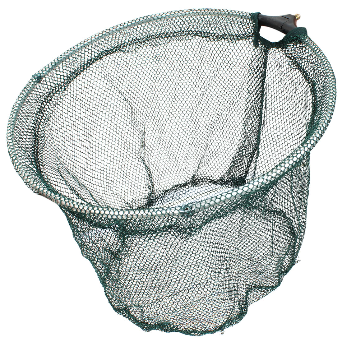 Metal Frame Green Nylon Hexagon Grids Fishing Landing Net Head Holder