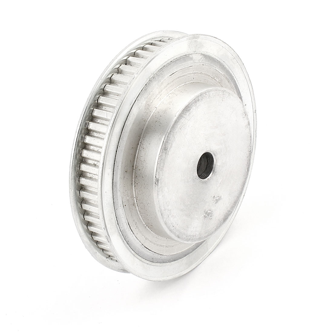 Aluminum Alloy 55 Teeth 10mm Bore Dia Double Flanged Timing Pulley