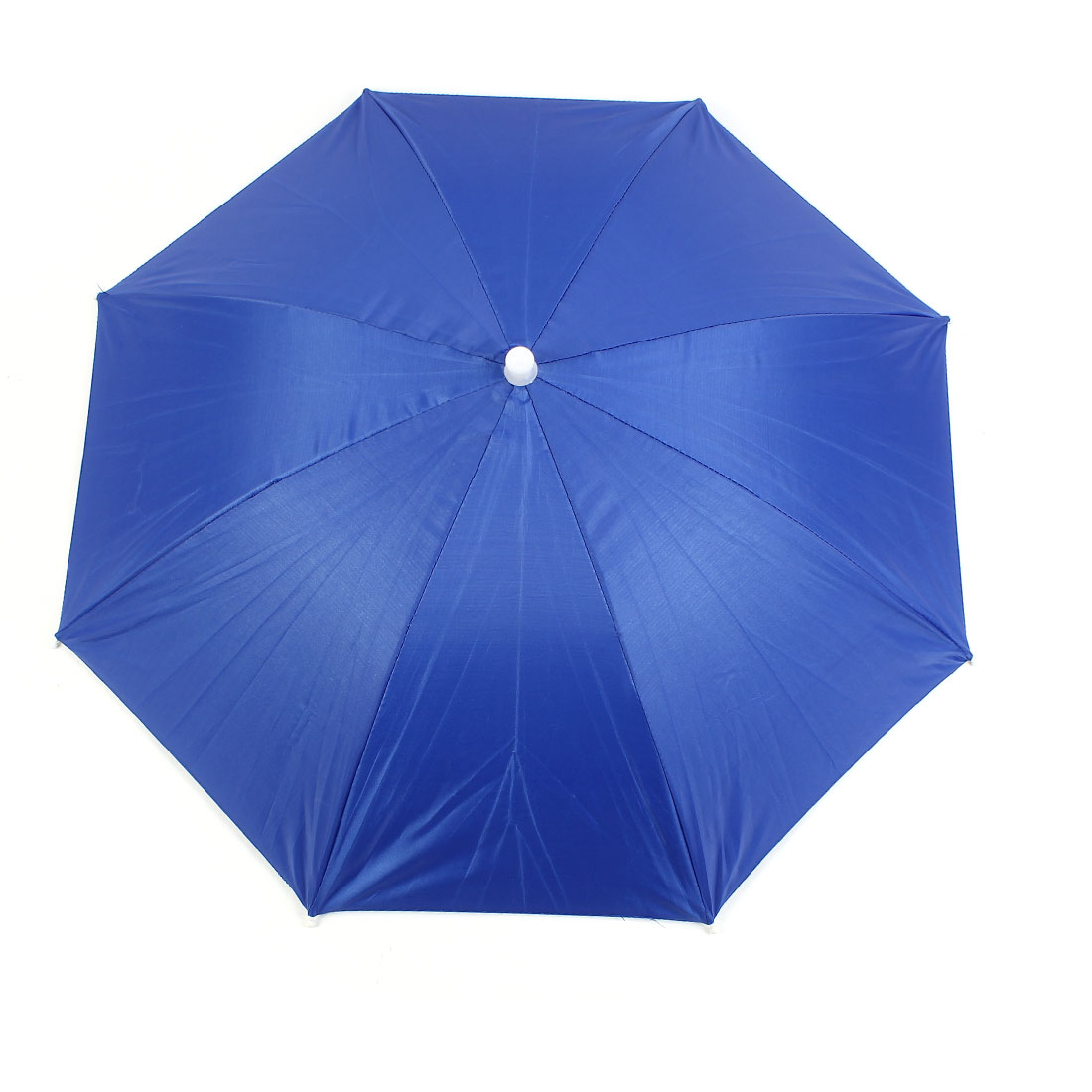 Camping Hiking Beach Headwear Polyester Umbrella Hat Headwear Royal Blue