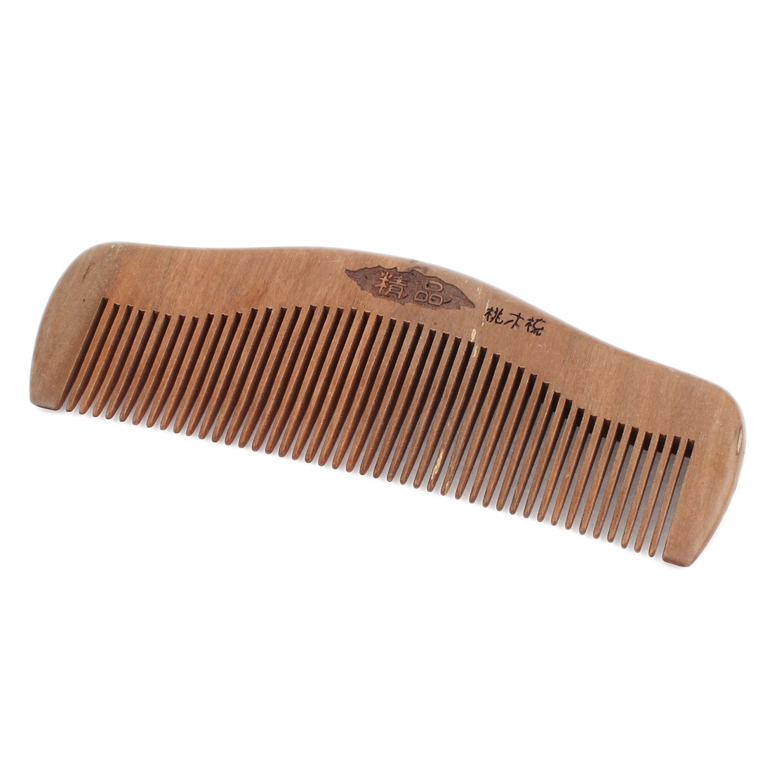 Portable Hairstyle Wooden Flower Pattern Anti Static Hair Care Comb Brown