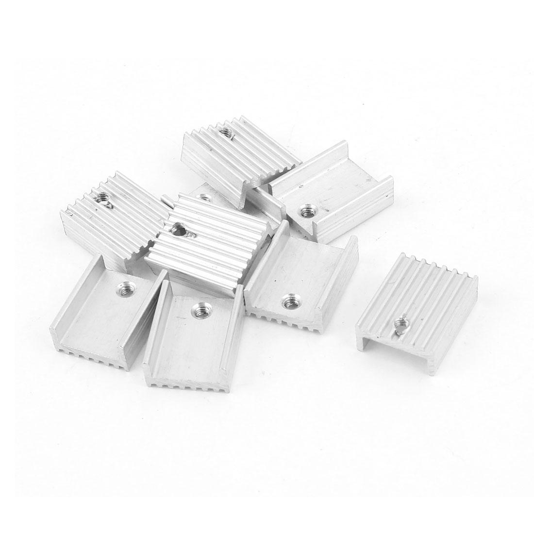9PCS 20 x 15 x 8 mm Aluminum Heat Sink For LED Electronic Components