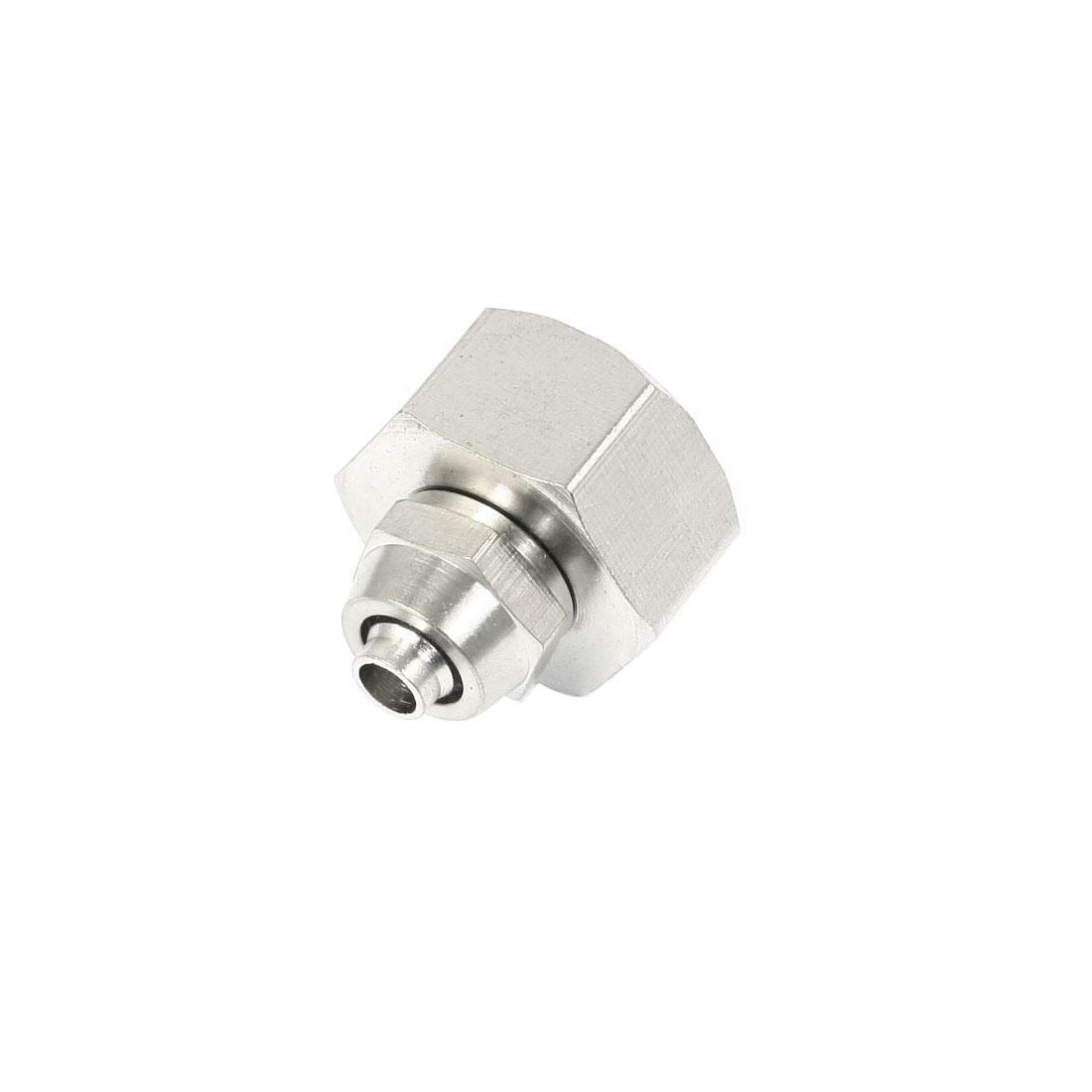 1/2PT Female Threaded Straight Quick Coupling Coupler Connector Silver Tone for 5mm Dia Air Pneumatic Hose