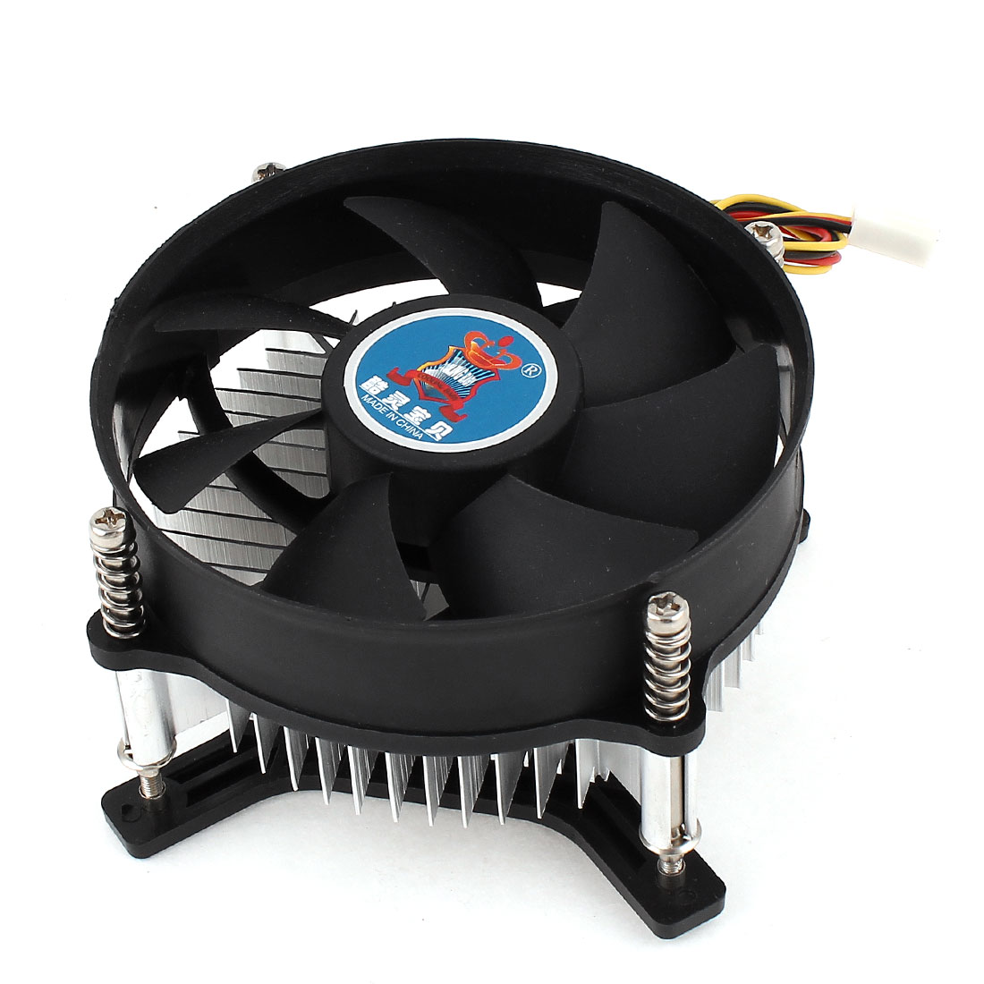 Desktop DC 12V PC 2000RPM Speed CPU Cooling Fan Cooler Heatsink Black