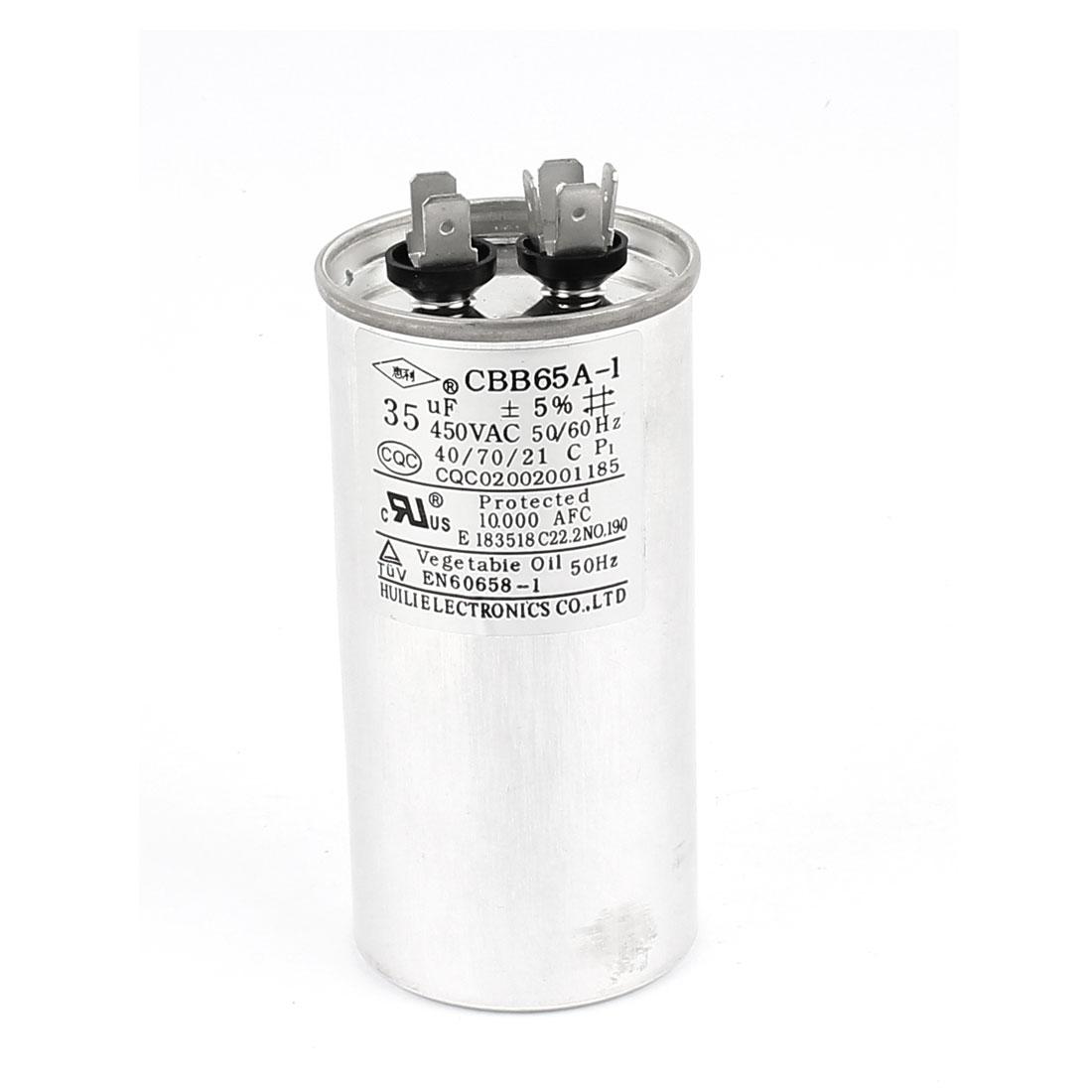 CBB65 AC 450V 35uF Polypropylene Motor Run Capacitor for Air Conditioner