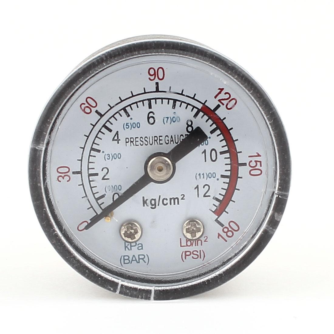 "1cm Male Threaded 1.7"" Dia 0-180PSI Pneumatic Air Gas Pressure Gauge"