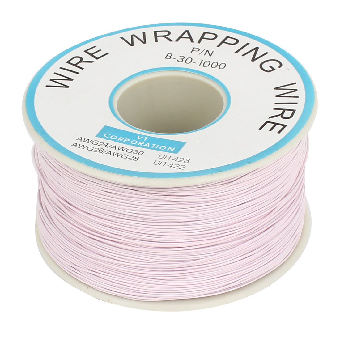 P/N B-30-1000 Tin Plated Copper Wire Wrapping 30AWG Cable 250M Light Purple