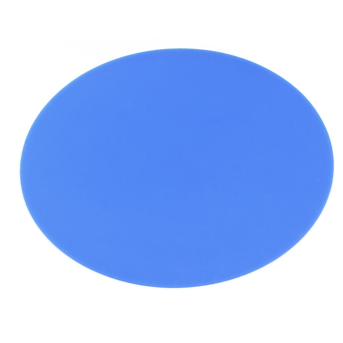 Home Office Blue Round Shape Silicone Mouse Pad Mat for PC Computer