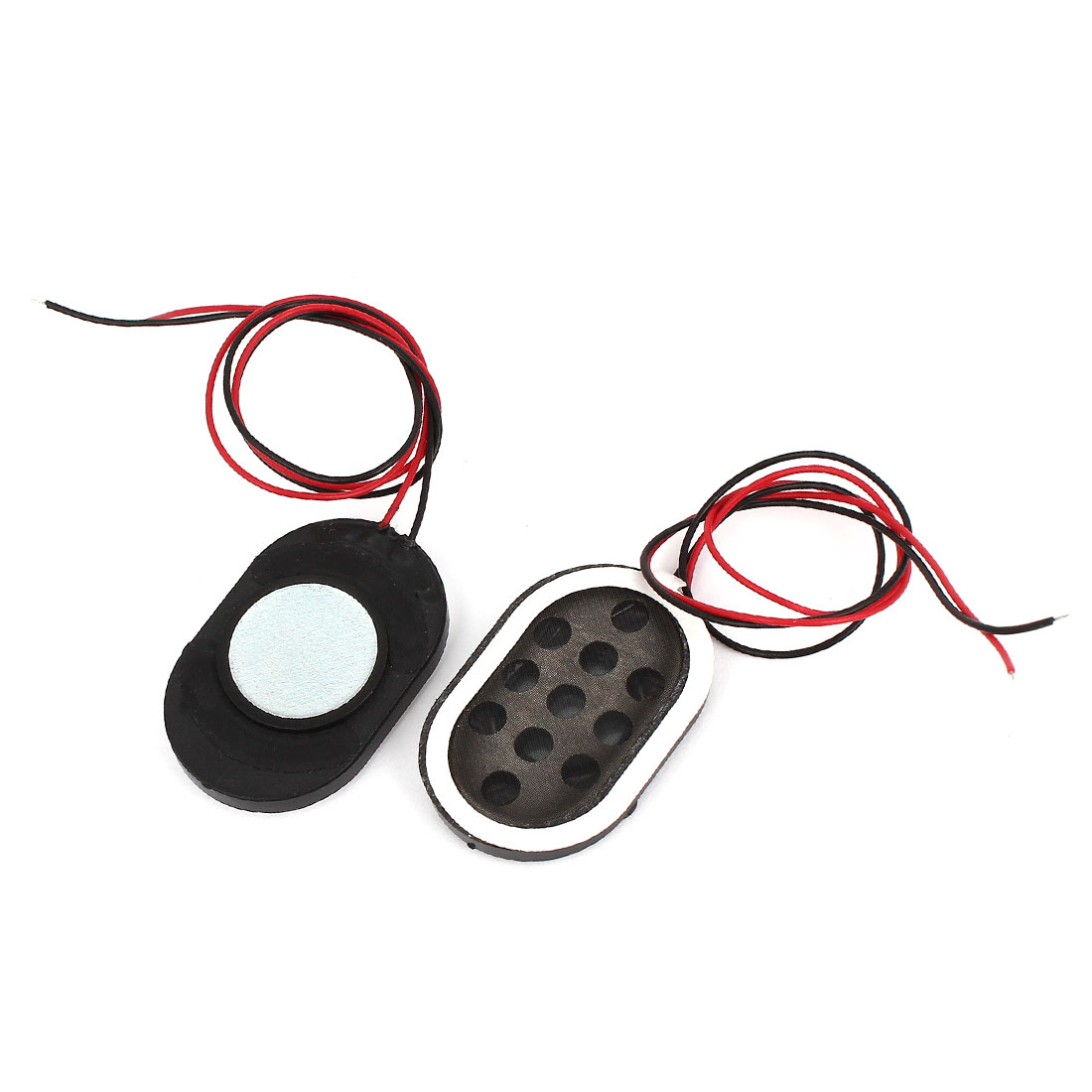 2Pcs 1.5W 8 Ohm 2-Wired Oval Plastic Shell Global Position System Navigator Voice Amplifier Speaker Loudspeaker Horn 30mm x 20mm
