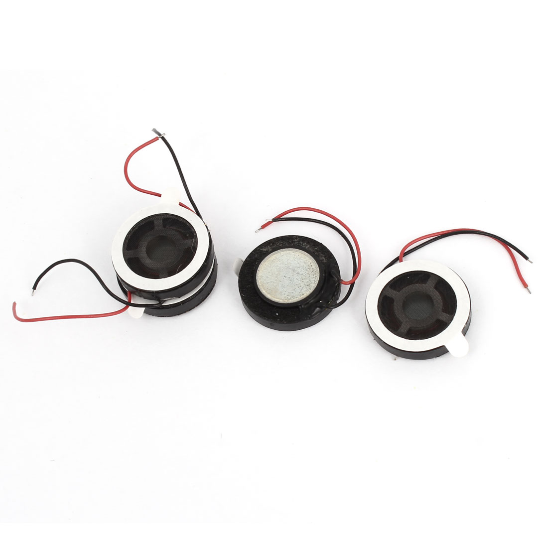 4 Pcs 0.5W 8 Ohm 15mm Dia Plastic Housing Round Cellphone Magnet Speaker Loudspeaker