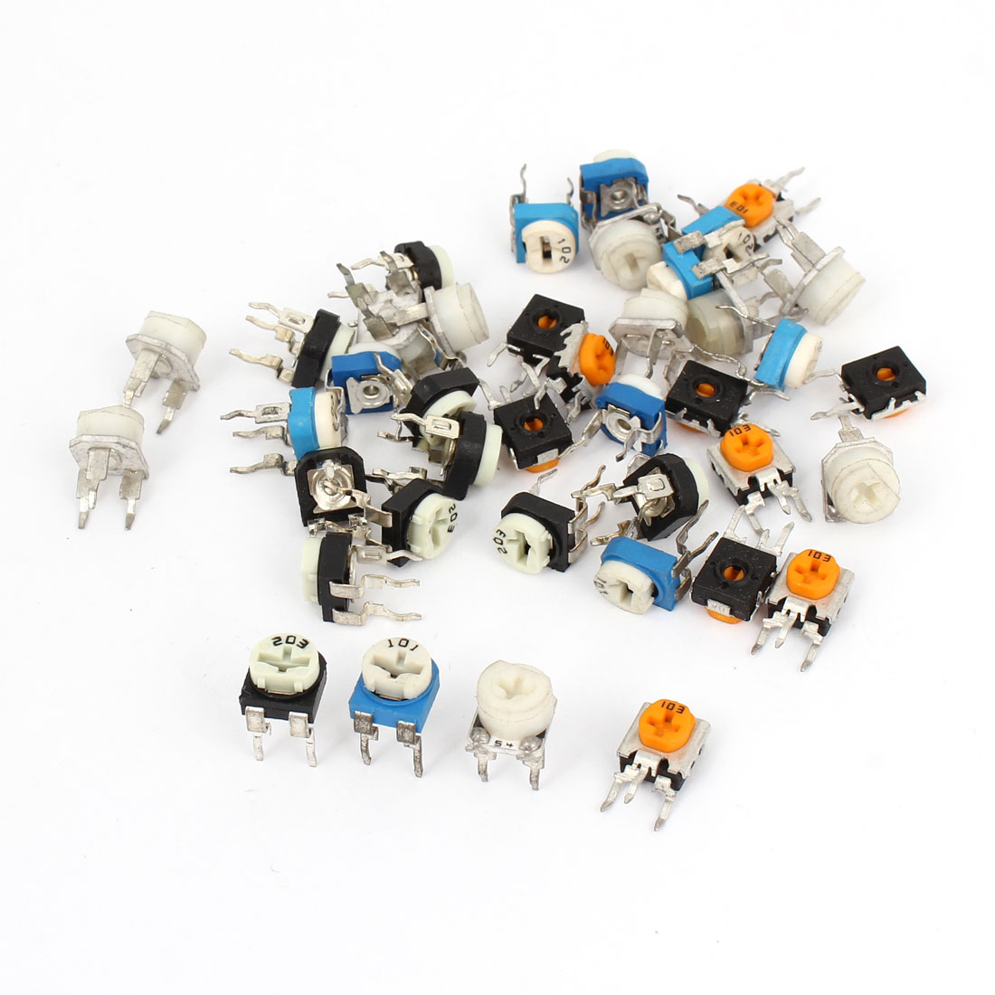 40 Pcs 5K 10K 20K 50K 100K 200K 500ohm Potentiometer Adjustable Resistors