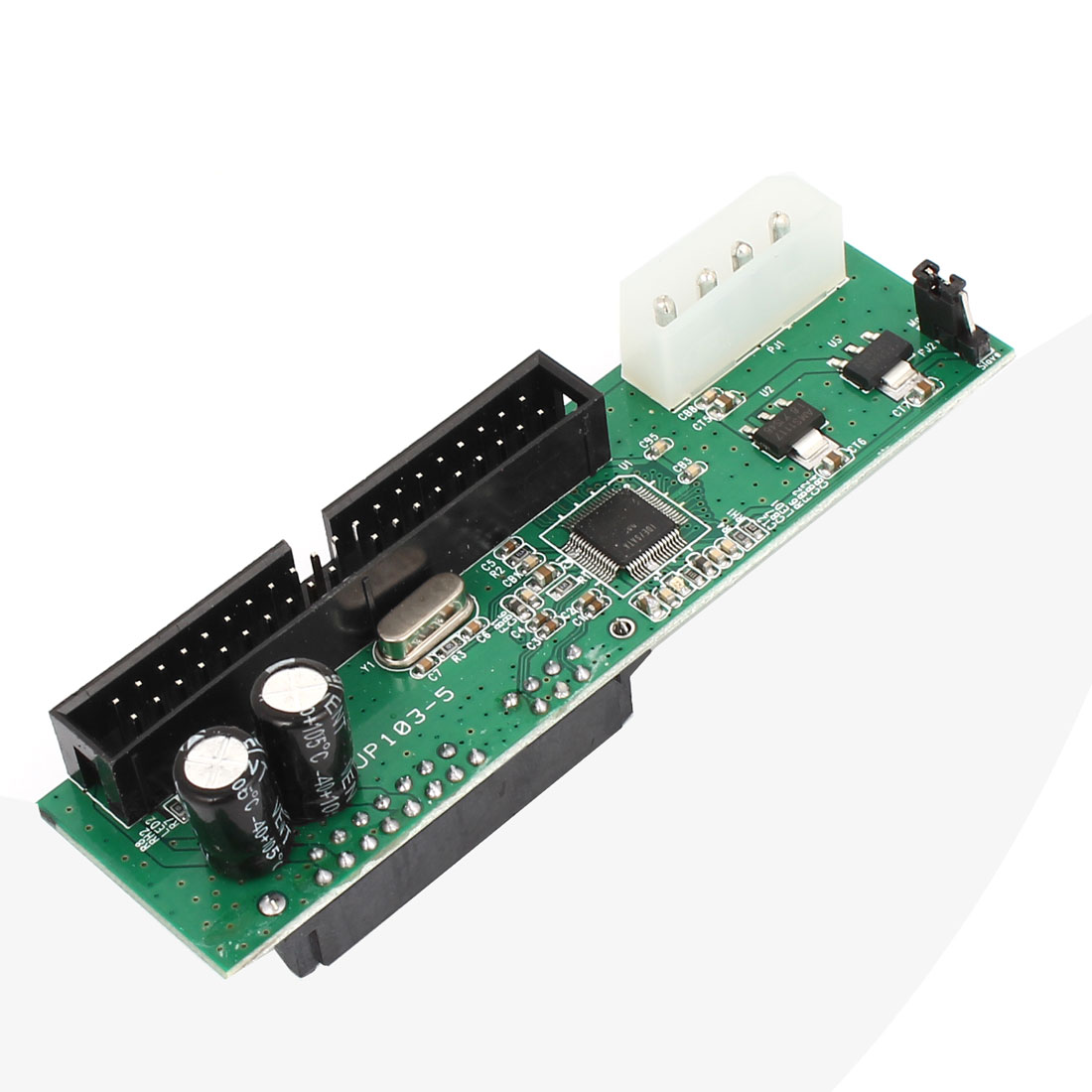 PATA/IDE 40 Pin Male to SATA 7+15 Pin Female Adapter Connector
