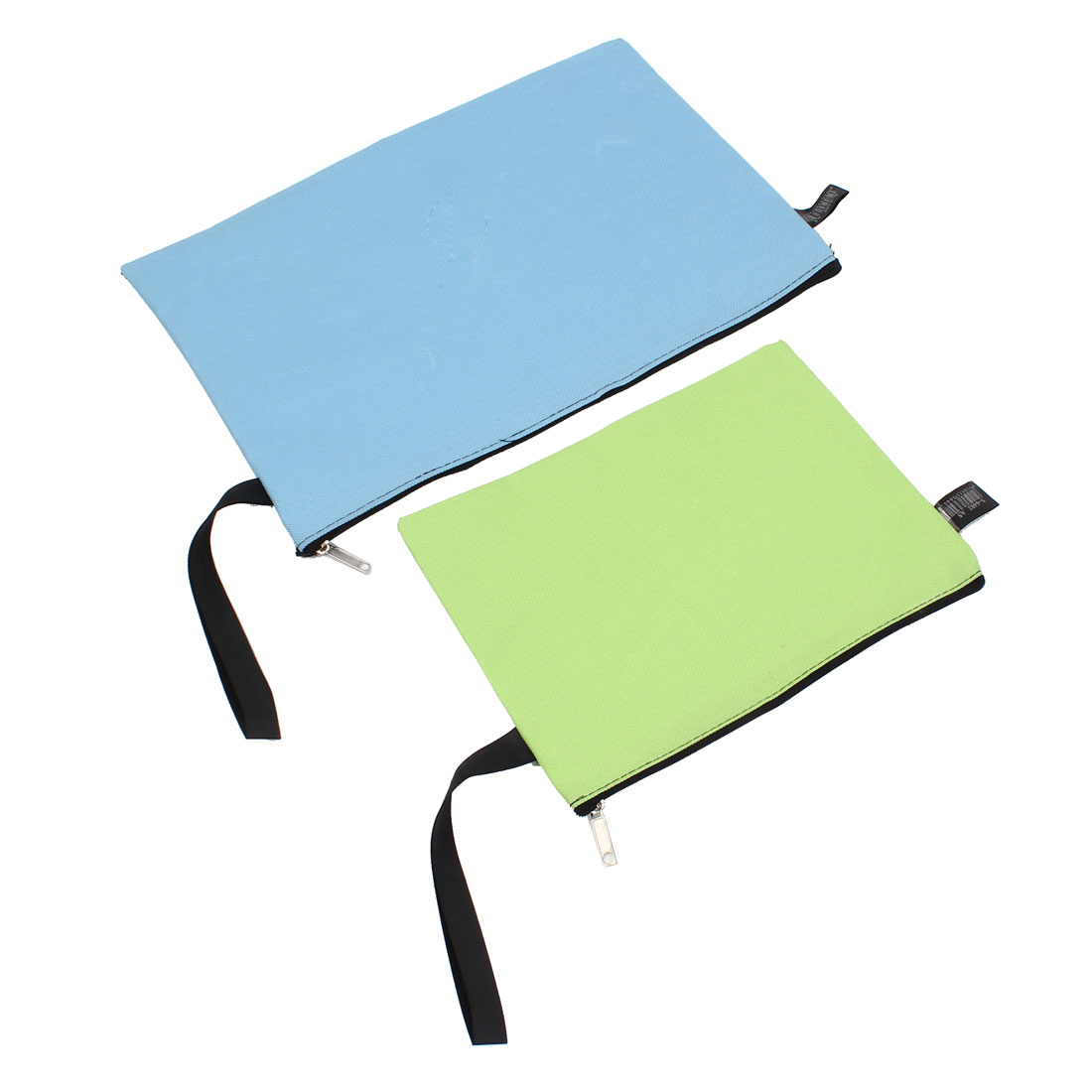 Stationery A4 A5 Paper File Document Zip Up Blue Green Bag 2 in 1