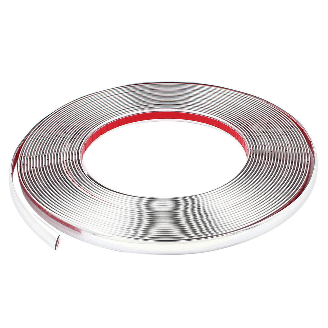Silver Tone Chrome Coated Adhesive Car Window Moulding Trim Strip Line 19M x 15mm