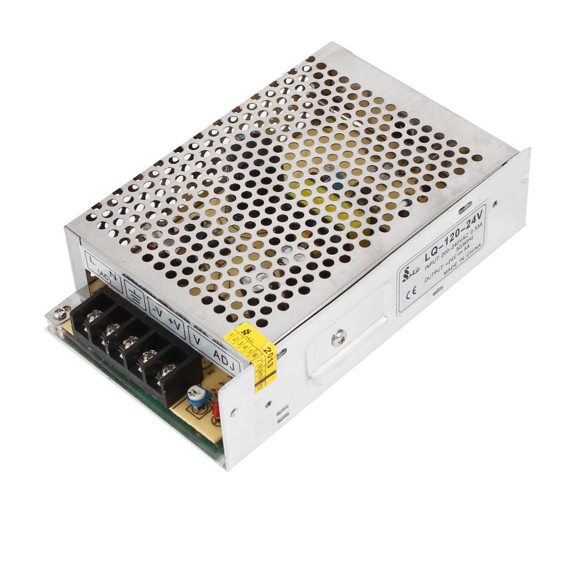 AC 200-240V DC 24V 5A Switching Power Supply Driver Adapter LQ-120-24V for LED Ligh Strip