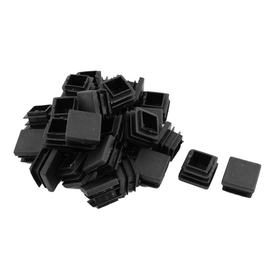 30 Pcs Black Plastic Square Tube Inserts End Blanking Cap 22mm x 22mm