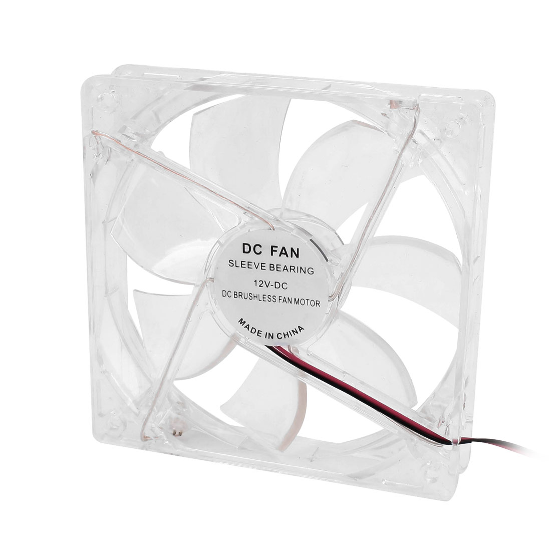 DC 12V Brushless Cooling Cooler Fan Motor 120mmx120mmx25mm Clear