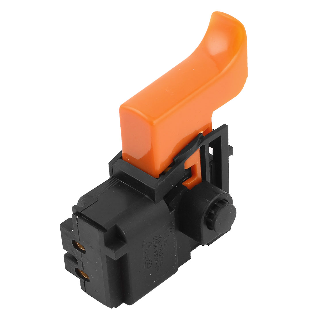FA2-4/2BEK2 Black Orange SPDT Lock on Electric Tool Trigger Switch AC 250V 6(6)A