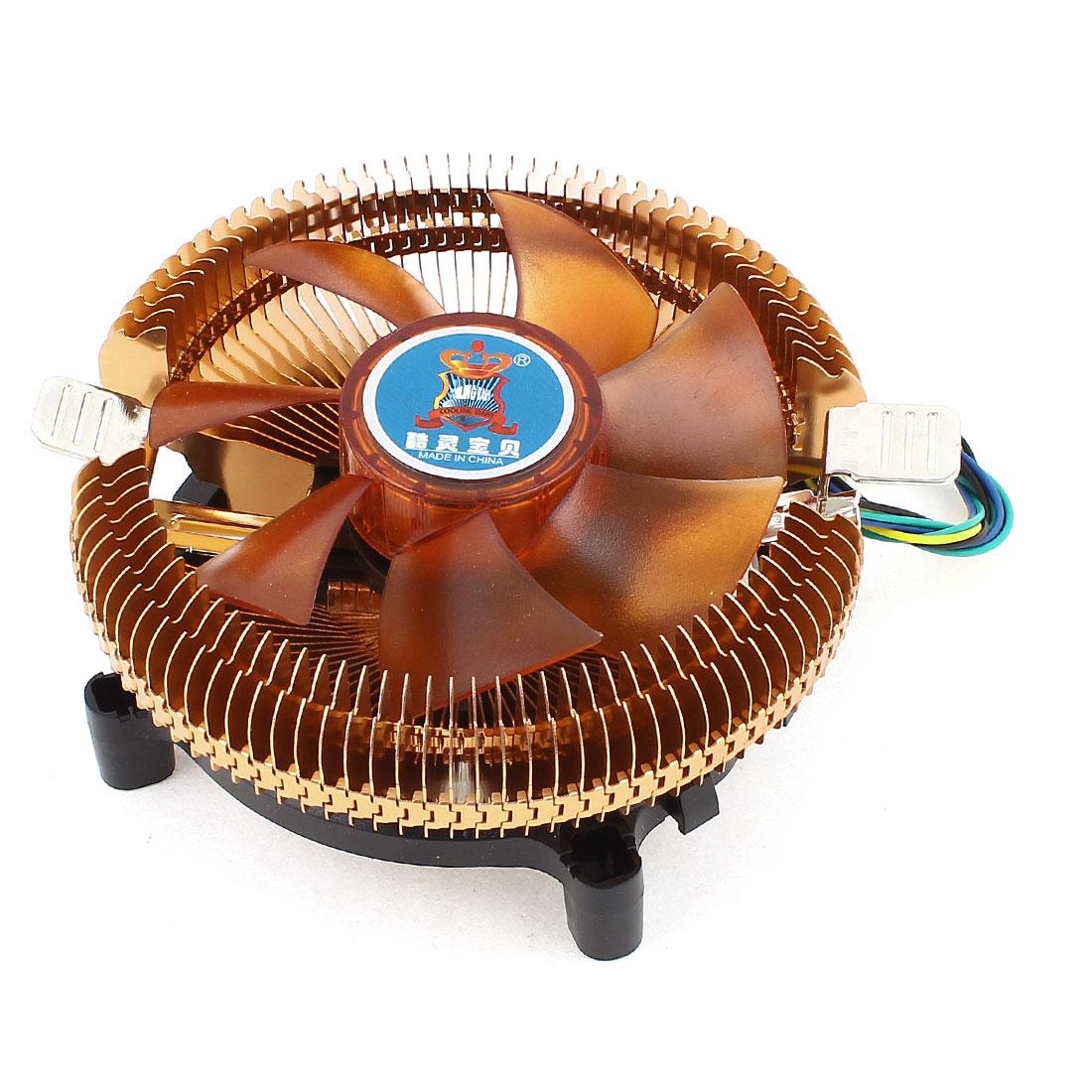 Desktop PC Cooling Fan Heatsink CPU Cooler DC 12V 4Pin for Intel LGA 775 AMD AM2 AM3