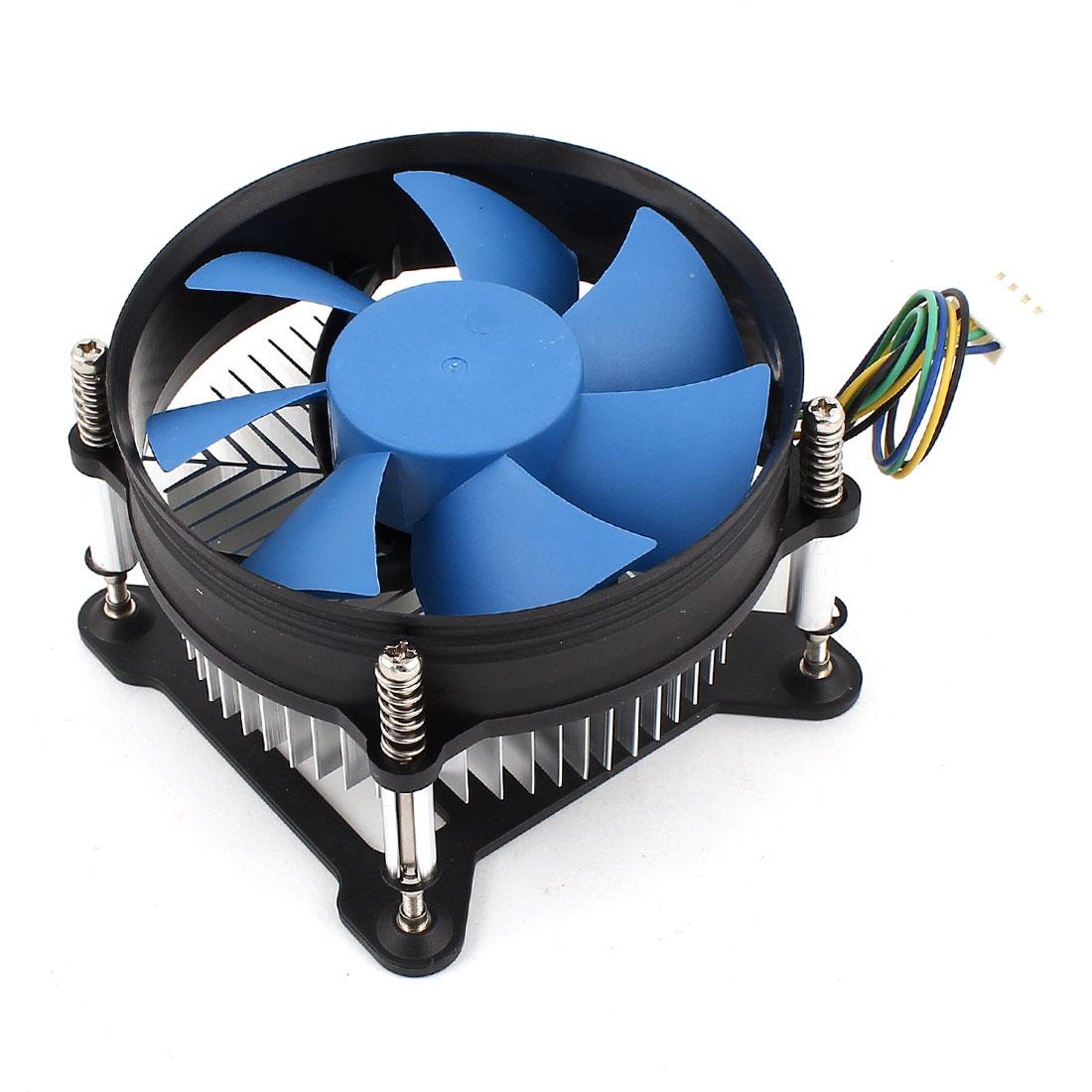 Computer PC Cooling Fan CPU Heatsink Cooler 4Pin 12V for Intel LGA1155/1156