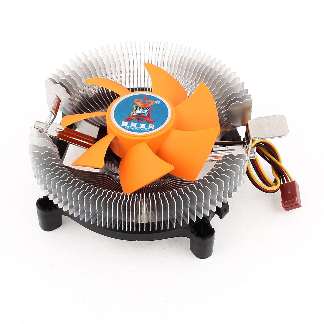 Desktop PC Cooling Fan Heatsink CPU Cooler DC 12V for Intel LGA 775 AMD AM2 AM3