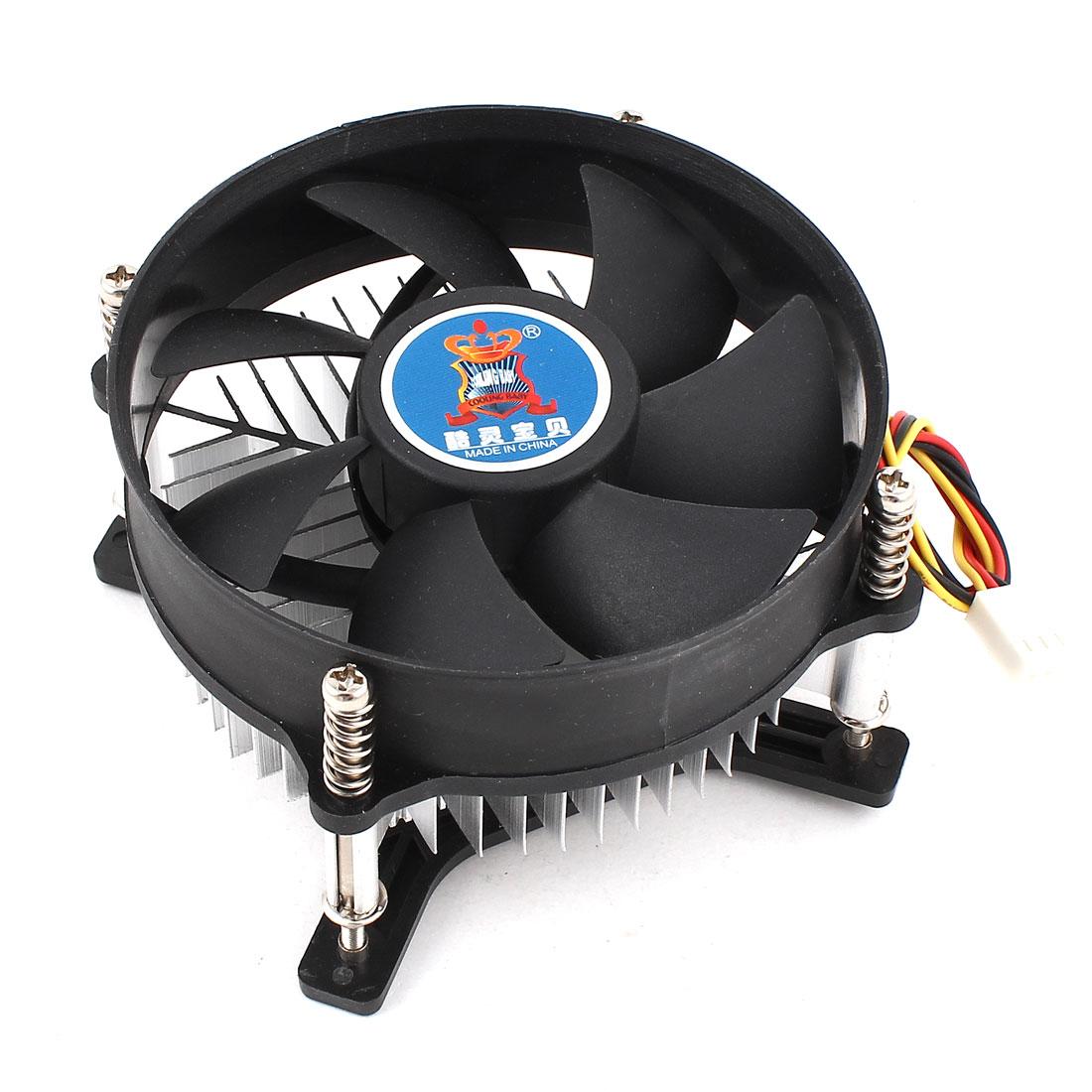 Desktop PC Cooling Fan CPU Heatsink Cooler 3Pole 12V for Intel LGA775