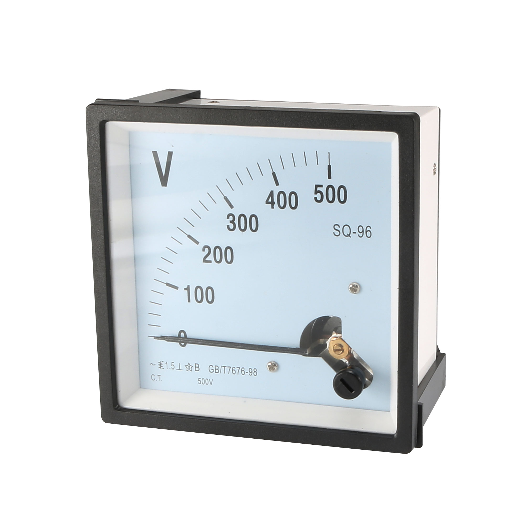Class 1.5 Accuracy Plastic Shell Clear Dial Voltmeter Gauge AC 0-500V
