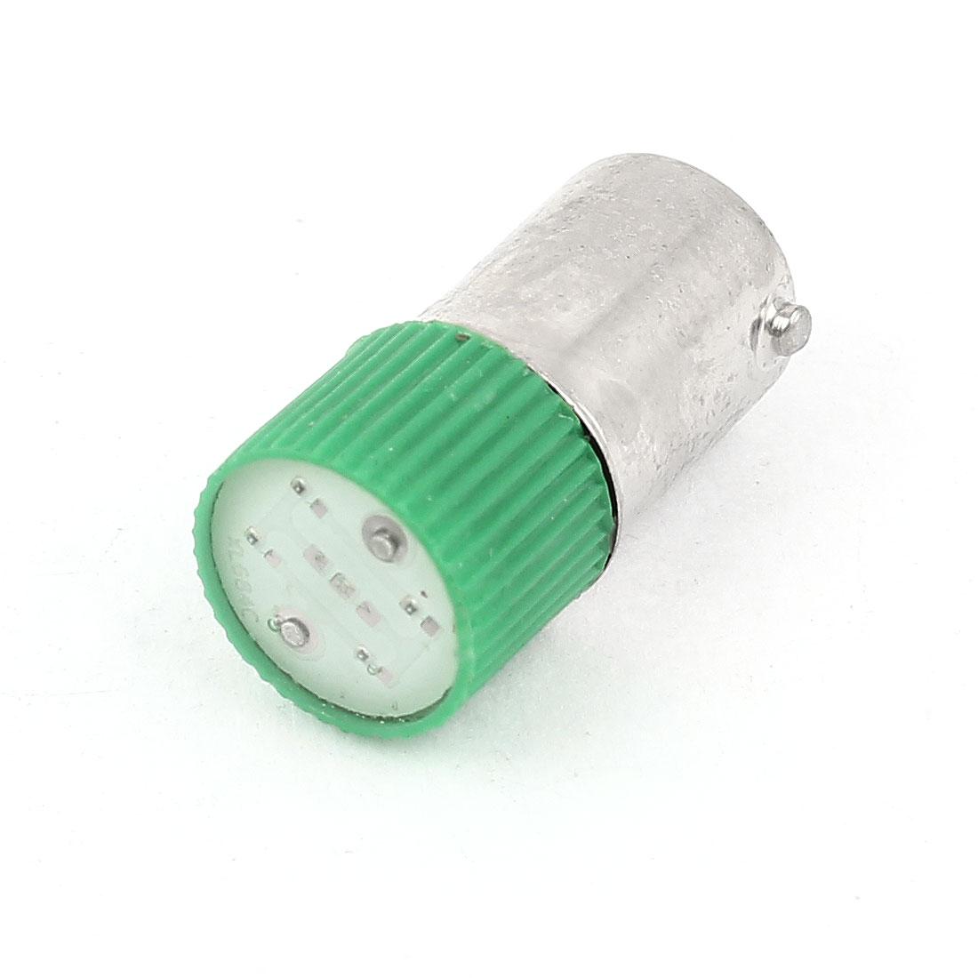 10mm Dia Round Shaped Head Green LED Light Signal Indicator Lamp AC 220V/240V 3A