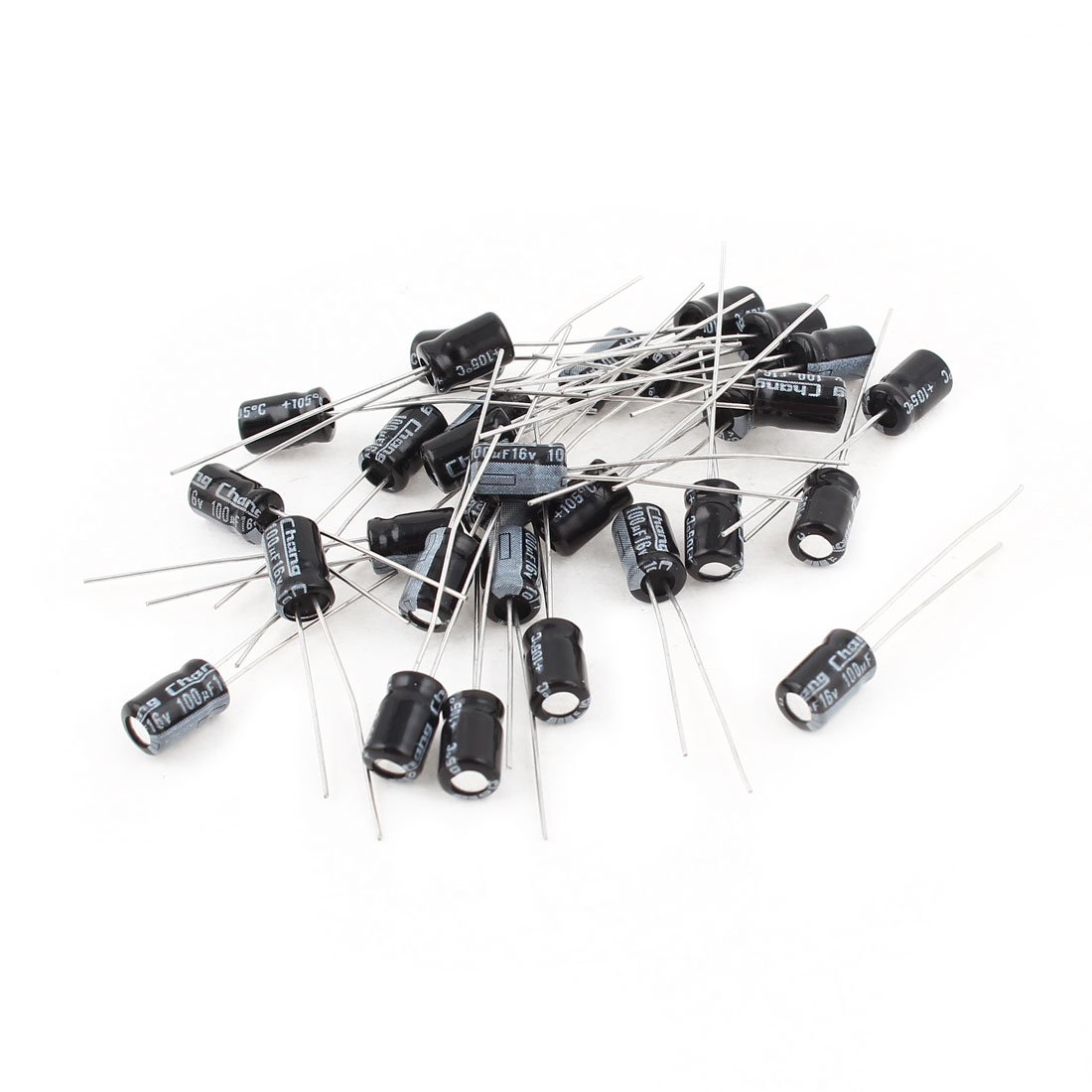 30 Pcs Radial Lead Aluminium Electrolytic Capacitor 16V 100uF 5x7mm