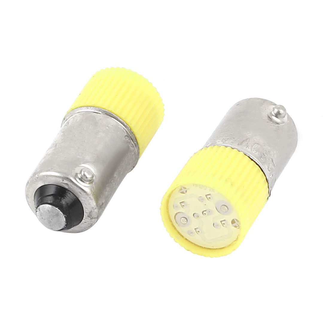 2 Pieces 10mm Round Head Yellow LED Light Signal Indicator Lamp AC 220V/240V 3A
