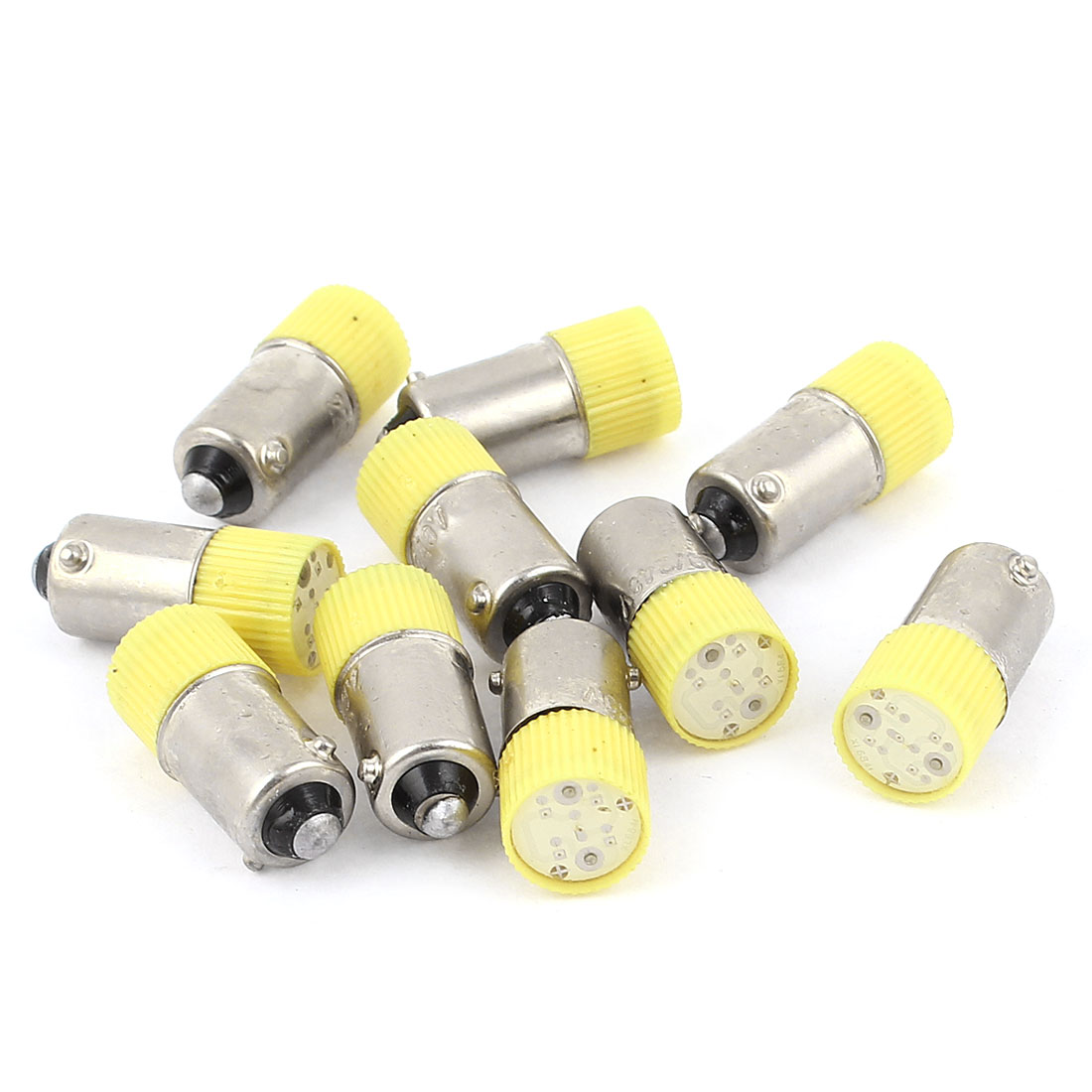 10 Pieces 10mm Round Head Yellow LED Light Signal Indicator Lamp AC 220V/240V 3A