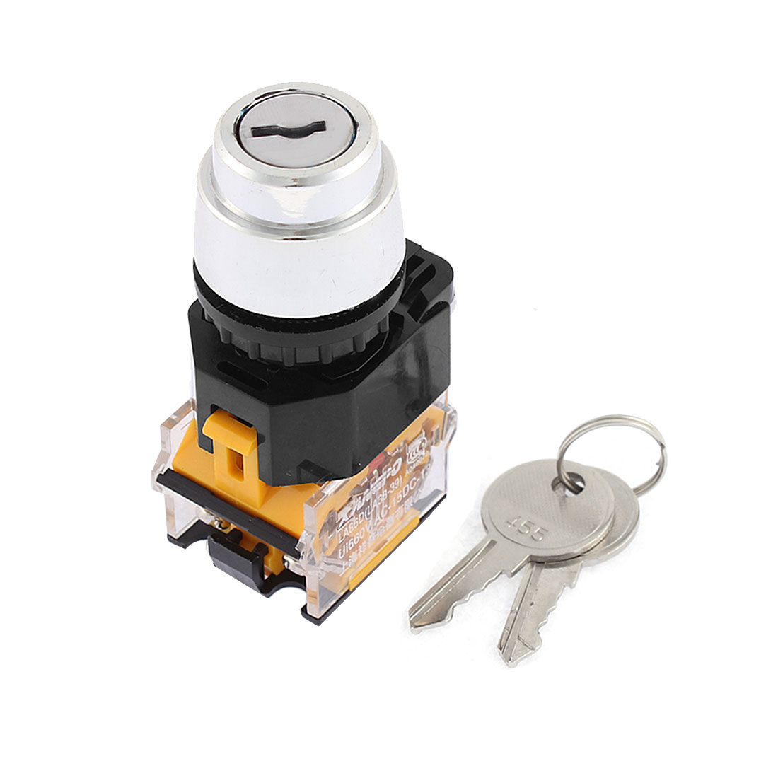 LA86D 2-Position Key Start Locking Momentary Power Switch AC 380V 10A