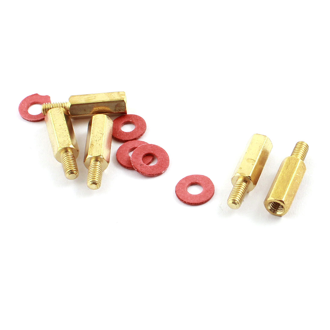 M3 12+6mm Brass Standoff Hexagonal Spacer 5 Pcs for PC PCB Motherboard