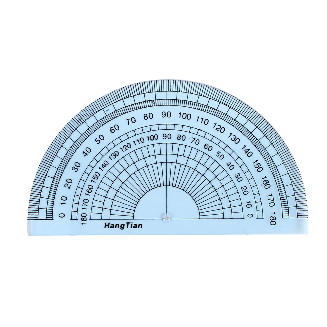 Students Clear Blue Plastic Stationery Protractor Measuring Tool 180 Degree