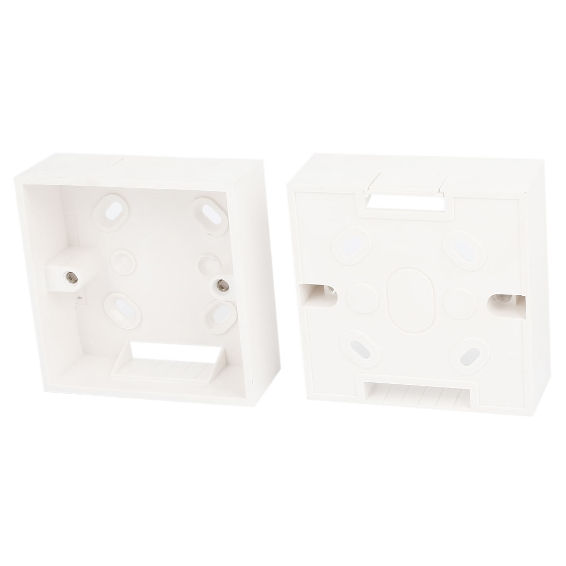 2PCS White PVC One Gang Mount Back Box for Wall Socket