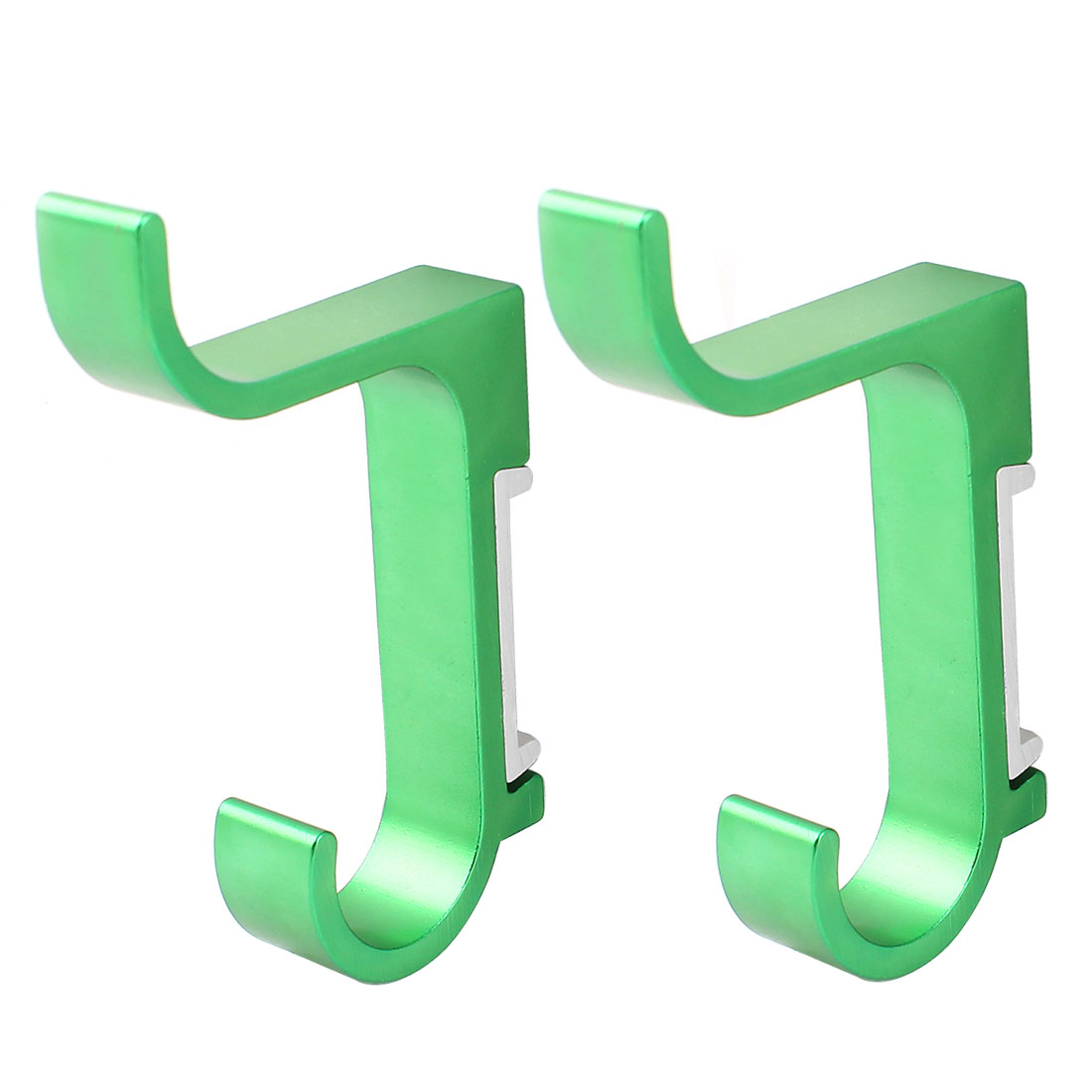2 Pieces Aluminum Wall Mount Bathroom Towel Holders Robe Hooks Hanger Green 85mm