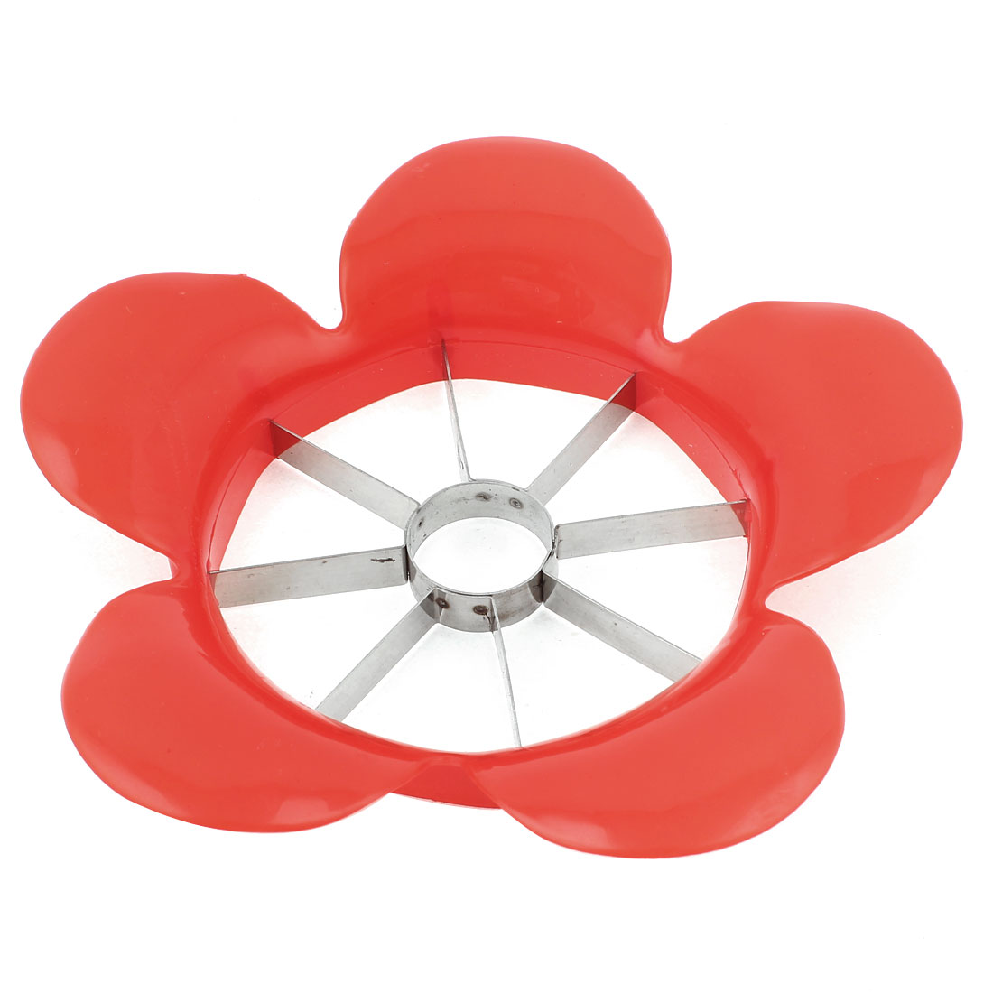 Kitchenware Stainless Steel Red Flower Shaped Fruit Apple Slicer Cutter Cutting Tool