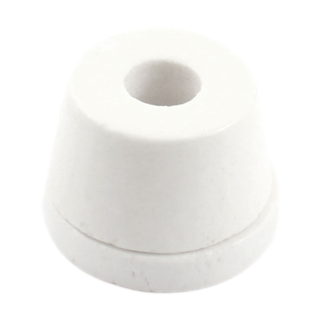 White 12mm Hole Diameter Wire Tapered Ceramic Electrical Insulator Insulation Bead AC250V 500C