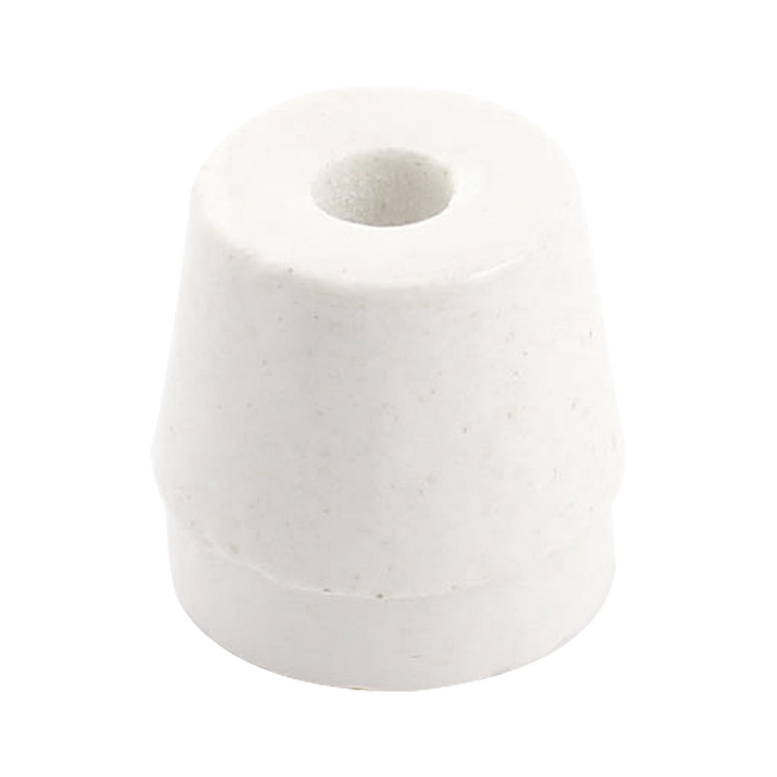 White 7mm Hole Diameter Wire Tapered Ceramic Electrical Insulator Insulation Bead AC250V 500C