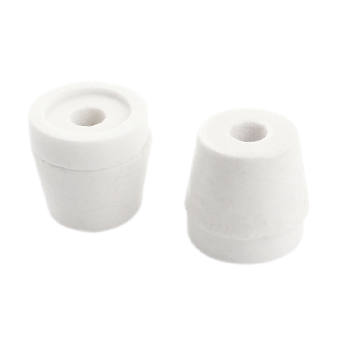 2PCS White 6mm Hole Diameter Wire Tapered Ceramic Electrical Insulator Insulation Bead AC250V 500C Type3