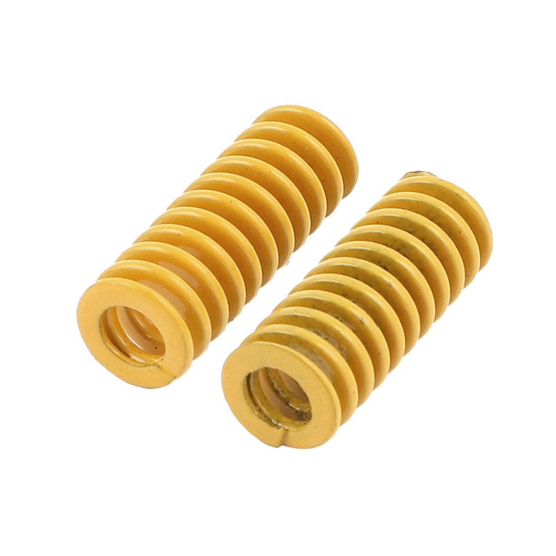 2Pcs Extra Light Load Yellow Spiral Stamping Compression Die Spring 8x20mm