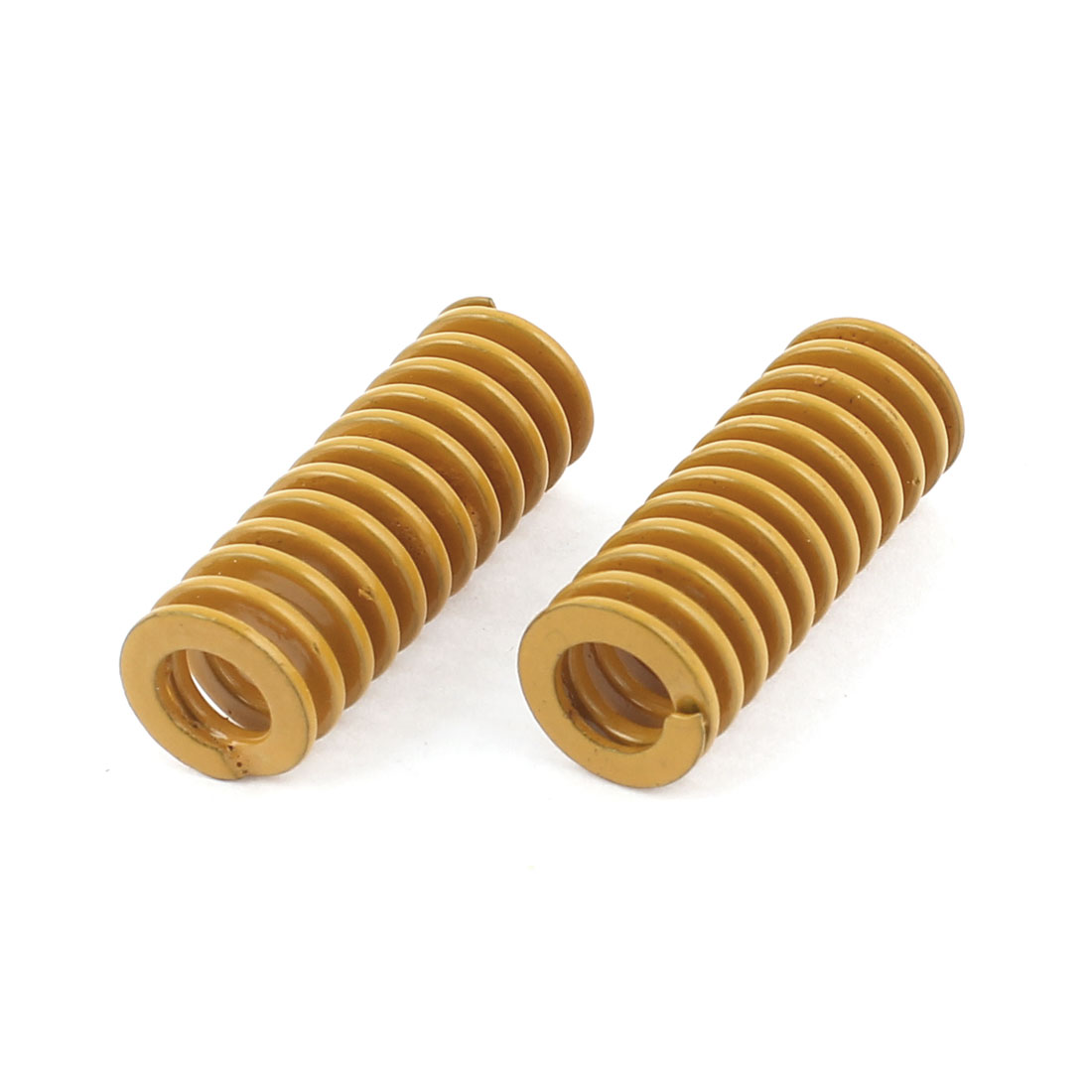 2Pcs Lighter Load Yellow Spiral Stamping Compression Die Spring 10x25mm