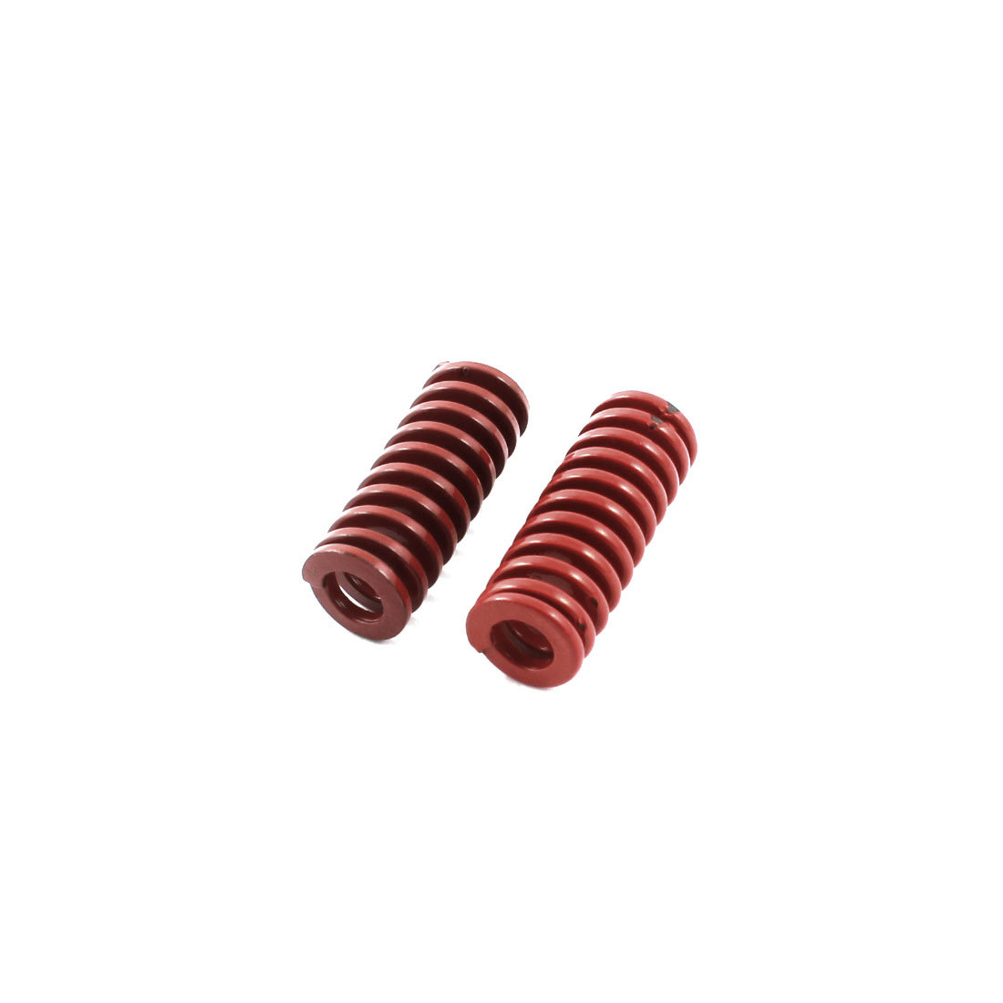 2Pcs Medium Load Red Spiral Stamping Compression Die Spring 10x25mm