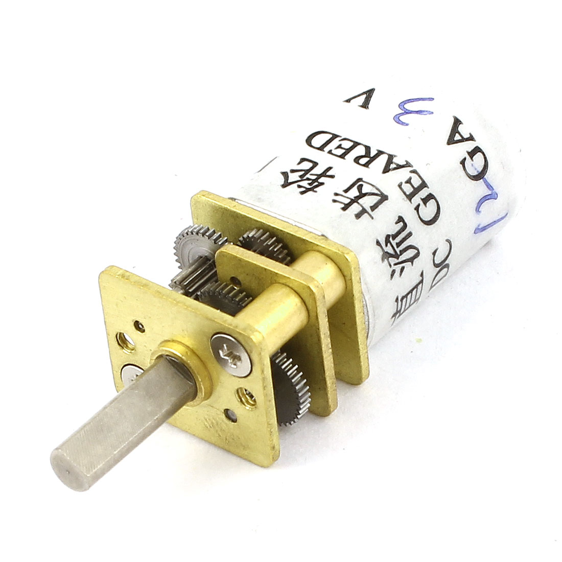 DC 3V 50RPM 3mm Diameter D Shaft Cylinder Electric Geared Box Speed Reduce Motor