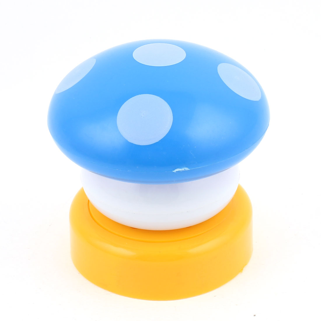 Mushroom Head Press Down Touch LED Lamp Bed Desk Night Light Blue