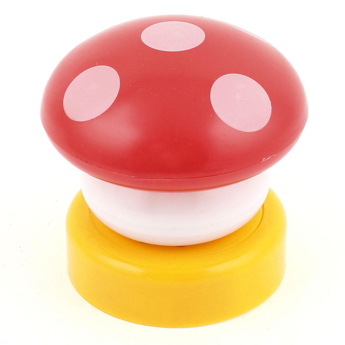 Mushroom Head Press Down Touch LED Lamp Bed Desk Night Light Red