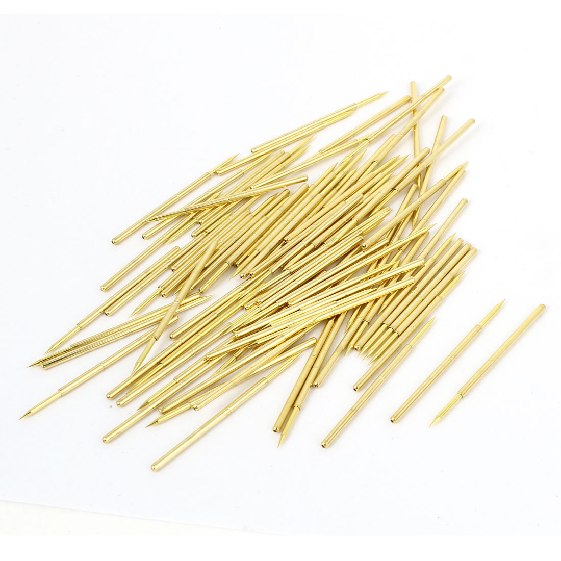 100 Pcs 33mm Length 1.0mm Spear Tip PCB Spring Test Probe Pin