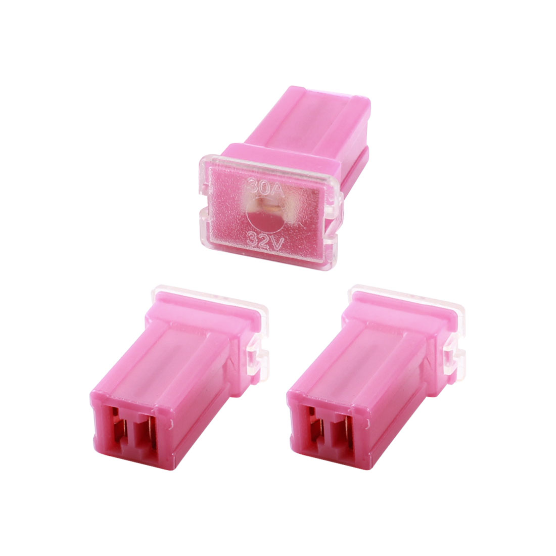 2 Pcs 32V 30A Female Plug Slow Blow Red Plastic Cartridge Car PAL Fuse